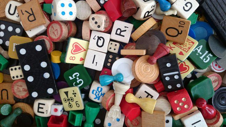 190 Vintage stuks speelstukken. scrapbooking / craft door RVHills, €14,75