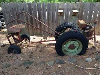 Antique David Bradley Walk Behind Tractor With Seat Cart