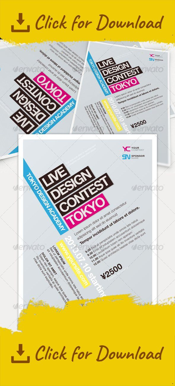 business, coloured, design, event, flyer, minimal, modern, simple, template Update – PSD file has been fixed Overview It's time to get minimal! Completely editable AI/PSD documents, you can change colors, positions and typefaces. Content Source Illustrator document (min CS4)Source PSD documentVector EPSJPG + PDF documents for fast viewPDF document with table of contents Format CMYK 15×21 + 3mm bleed. 1 page Font Helvetica Neue Family: Light, Regular, Oblique, Bold. Not incl...