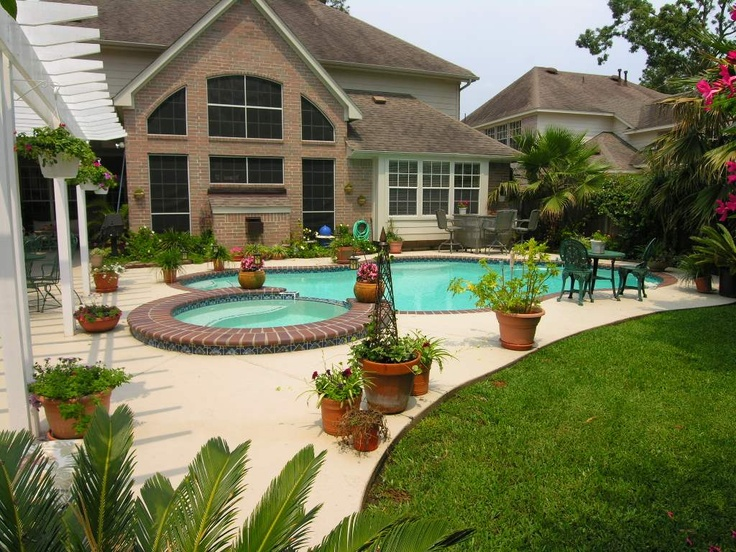 dream backyard pool some grass and some concrete space for the