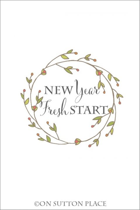 New Year, Fresh Start free printable | Use for DIY wall art, cards, crafts, screensavers and more!