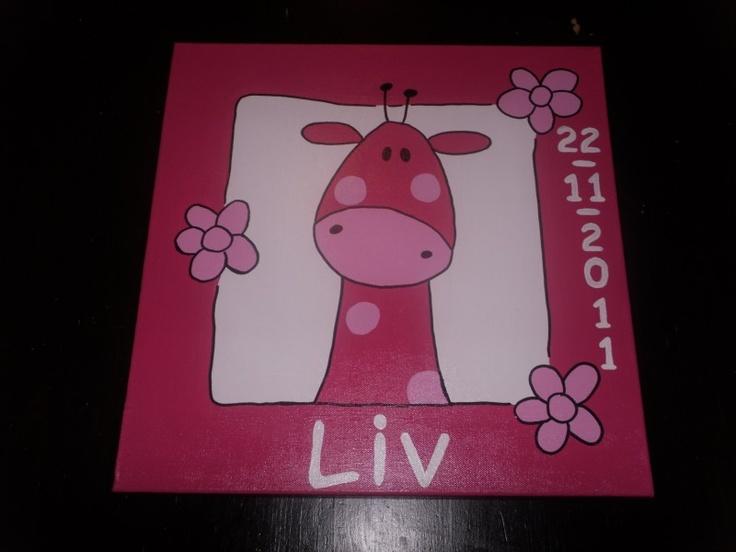 Atelier Myrna - geboorteschilderij Liv