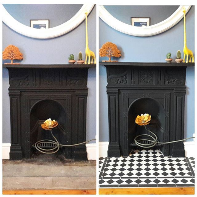 Before and after! Black and white and black and white and black and white and... #victorianterrace #victorianrenovation #victoriantiles #interiordesign #homerenovation