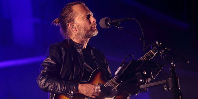 Thom Yorke sur scène avec Radiohead au festival Austin City Limits en 2013.
