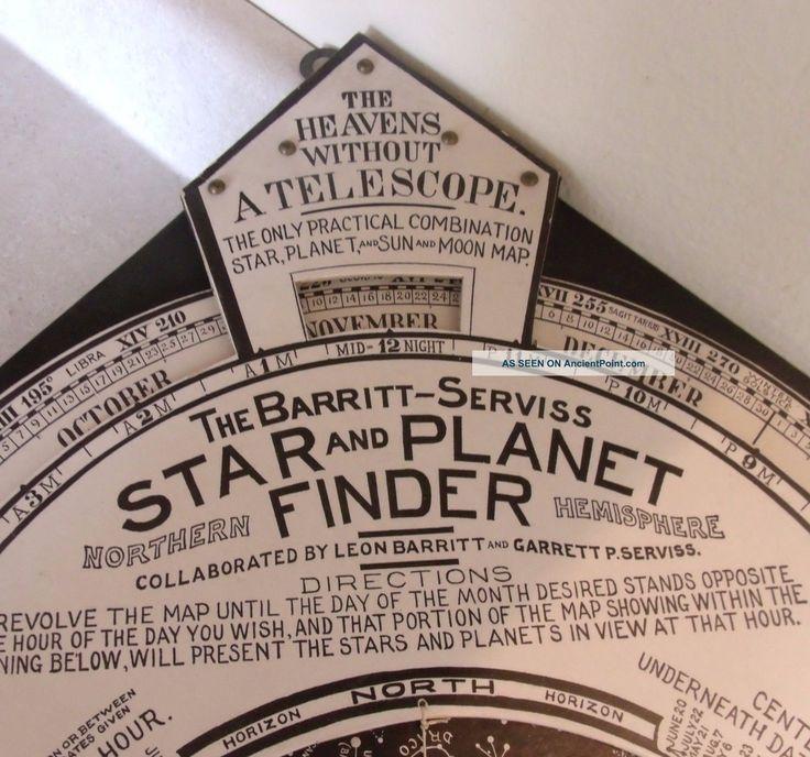 1906 Barritt - - Serviss Star And Planet Finder