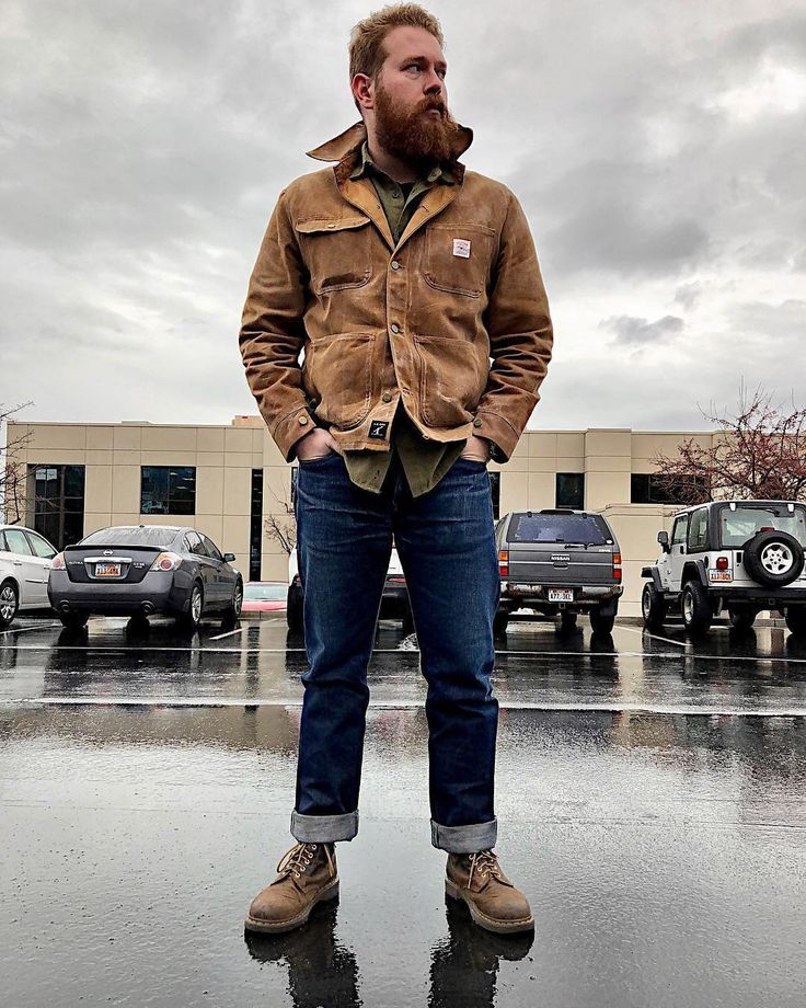 """973 Likes, 14 Comments - L. C. King Mfg. Co. (@lckingmfg) on Instagram: """"Staying dry shot from @theloganarey thanks. ・・・ Rainy day and waxed jacket • • • • • • • • •…"""""""