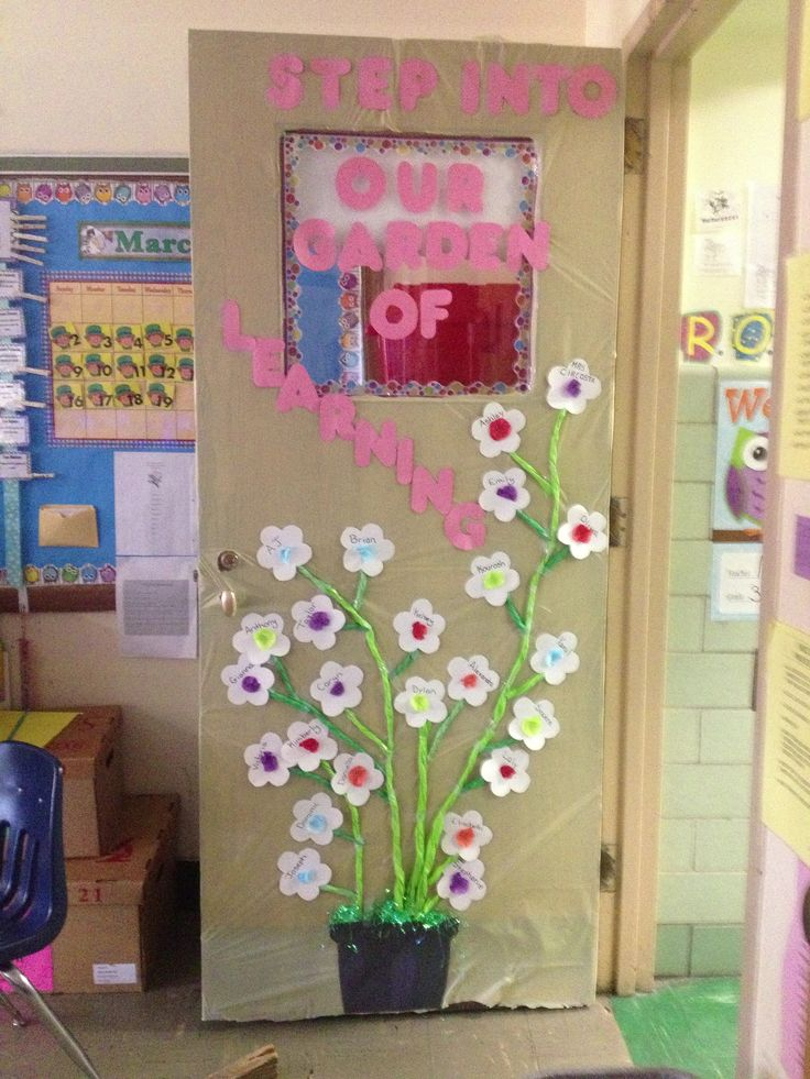 Classroom Door For Spring. Decorated ...