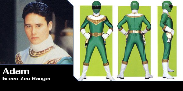 Adam Park (Zeo Ranger IV - Green) - Power Rangers Zeo | Power Rangers Central