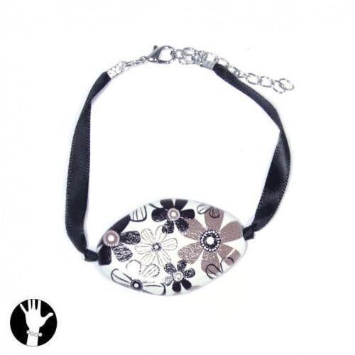 sg paris women bracelet bracelet 21cm+ext comb black and white wood SG Paris. $6.58