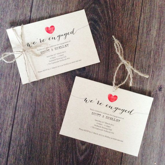 Custom Printable Engagement Party Invitation by CreatifDesigns4You