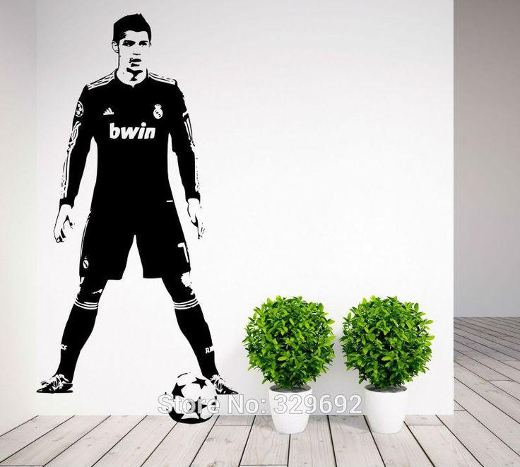 Футбольная звезда криштиану роналду CR7 стены искусства наклейка декор стикер винил плакат украшение дома наклейки размером 56 x 110 см tx296