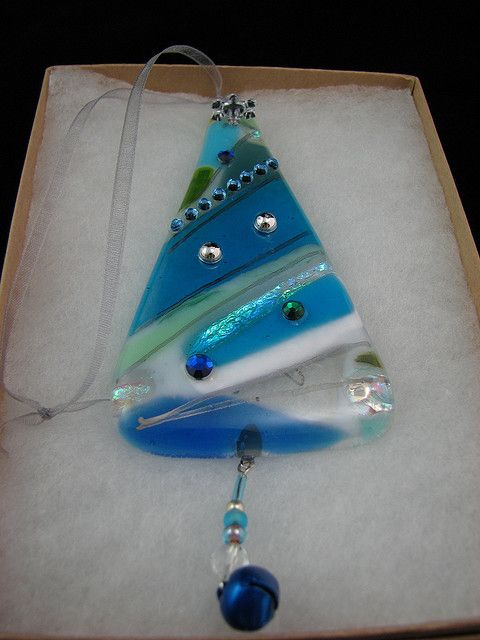 Glass Christmas Ornaments | Fused Glass Christmas Ornament | Flickr - Photo Sharing!