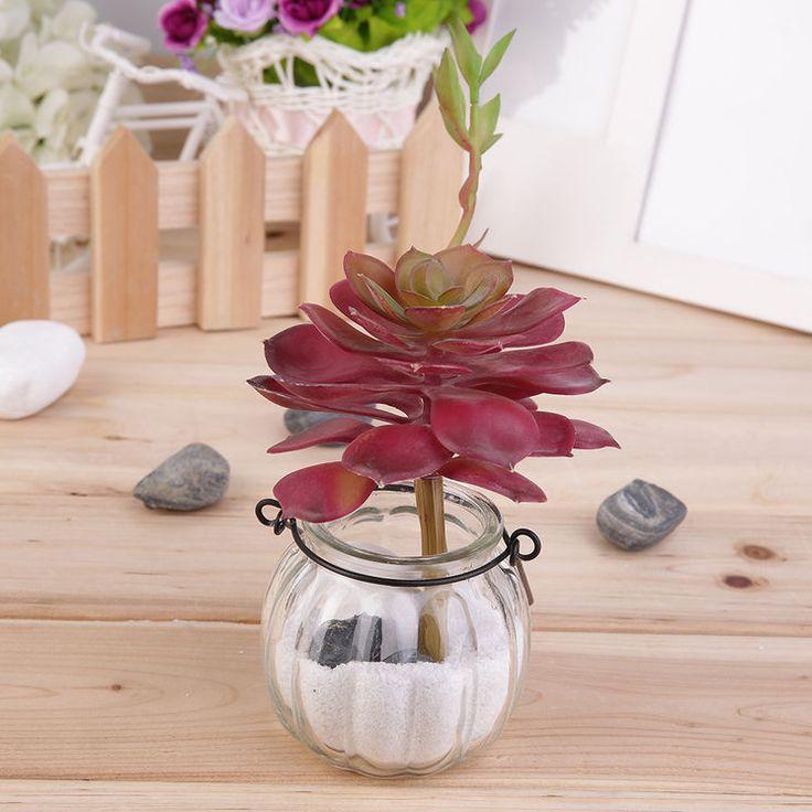 1pc Artificial Succulent Without Pot Desert Plant Garden Home Landscape Decor IB
