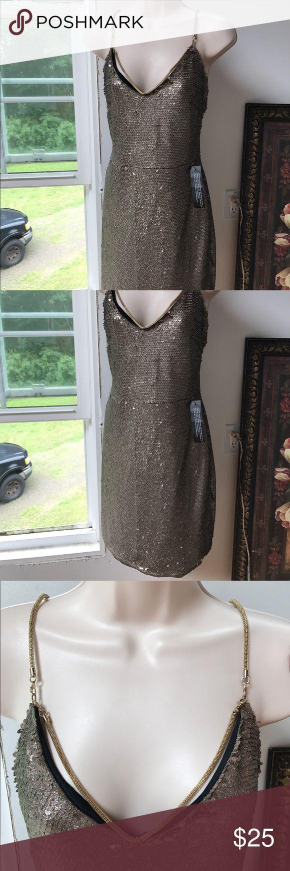 TopShop size 12 Bronze Sequence Dress TopShop Size 12 Sequence dress. Bronze colored. NWT Topshop Dresses Mini