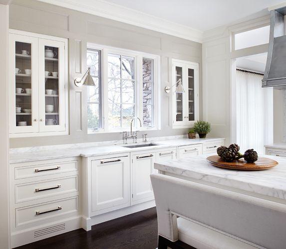 White Kitchen. Inset Cabinets.