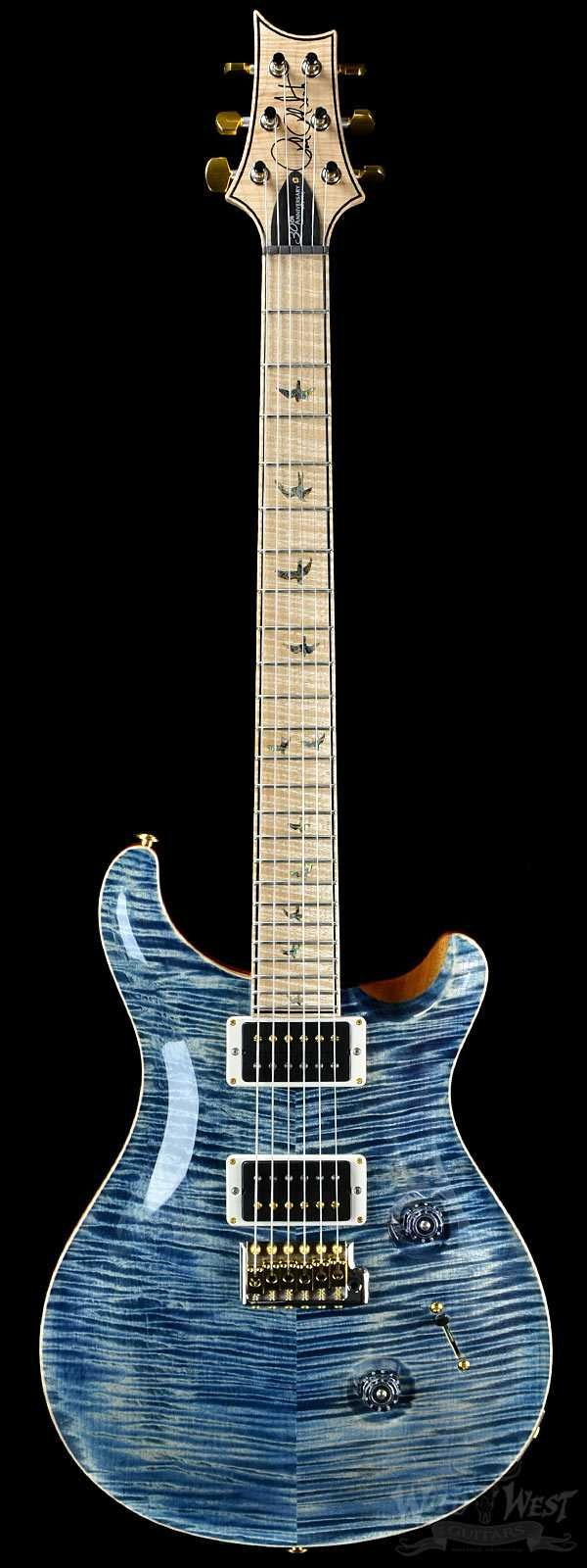PRS Paul Reed Smith 30th Anniversary Wood Library Faded Whale Blue Artist Grade Neck