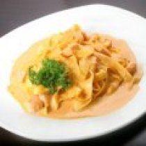 Receta de Pasta con Salsa de Tomate Cremosa y Camaron