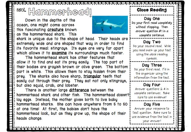 Close Reading Freebie!