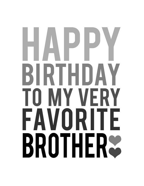 BROTHER BIRTHDAY CARD Grey and Black Happy by BubbyAndBean