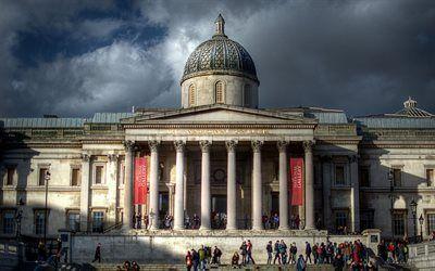 壁紙をダウンロードする ロンドン, 国立ギャラリー, トラファルガー広場, 英国