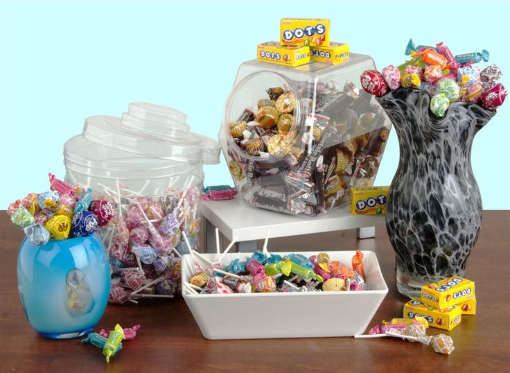 Plastic Candy Jar with Lid | Set of (20)