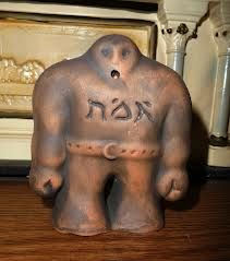 """Golem of Prague, with """"truth"""" on his forehead"""
