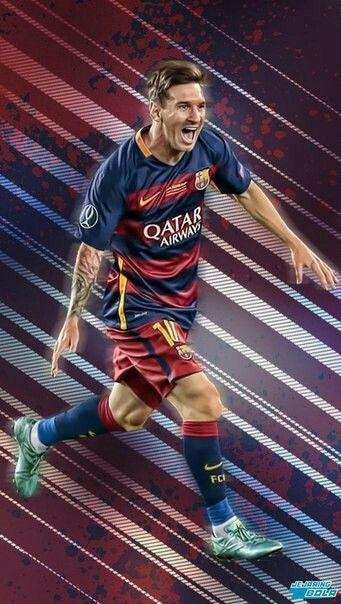 Messi está pareciendo feliz . Él es patear la pelota. Él va muy rápido