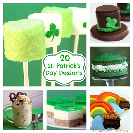 20 St. Patrick's Day Dessert Recipes...yummy & cute!  Oh, and a little for adults too!