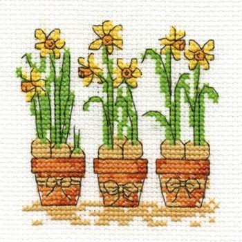 Daffodils, from @DMC Creative World, UK.