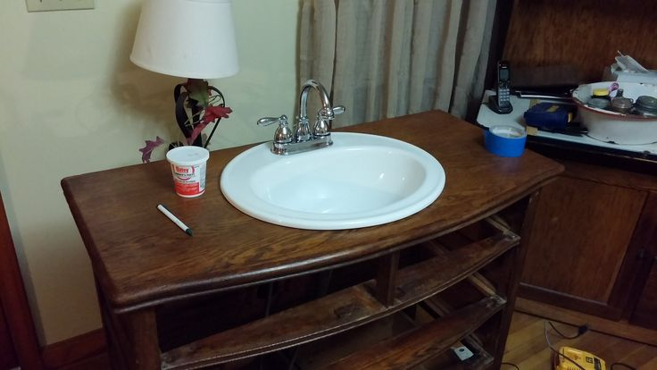 17 Best Images About Antique Dresser Converted Into A Bath Vanity On Pinterest Places Drawers: best place to buy bathroom fixtures