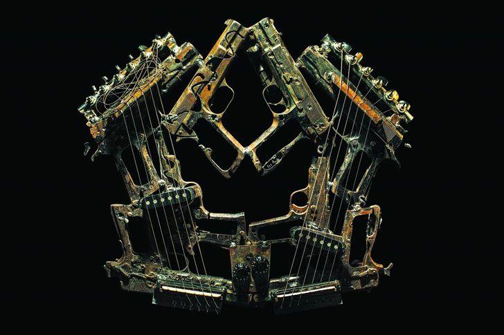 Artist Pedro Reyes Creates Beautiful Instruments from 6,700 Mexican Drug War Guns
