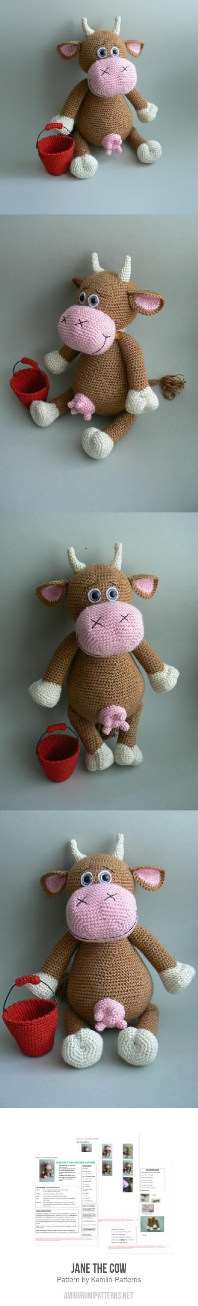 Jane The Cow Amigurumi Pattern