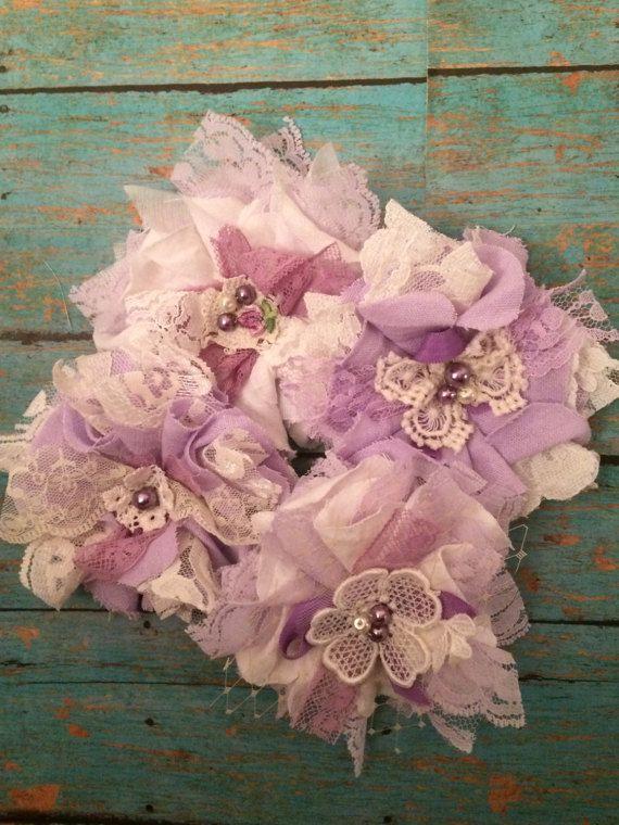 Paarse en ivoren bruiloft decoraties / Mason door DolledandDazzled