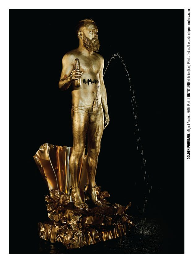 He sido un niño tan malo que los del Embarrat me han enviado al despacho del director. Así que no os perdáis GOLDEN FOUNTAIN este fin de semana en el despacho del director del Museu Trepat de Tàrrega.  Ph: Didac Alcoba http://miguelandres.com/goldenfountain #niñomalo #badboy #dadavive #dadaisalive #duchamp #fountain #performance #performingarts #conceptualart #contemporaryart #MiguelAndres #visualarts #art #videoart
