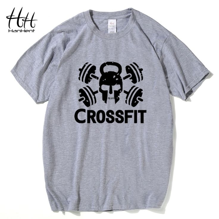 HanHent Fashion Crossfit T Shirts Men Short Sleeve T-Shirt Fitness Tops Tees Skull O Neck Cotton Bodybuilding Tee shirt Man #Affiliate