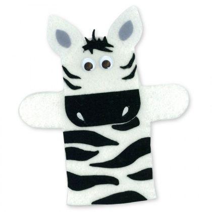 Felt Zebra Hand Puppet - CleverPatch