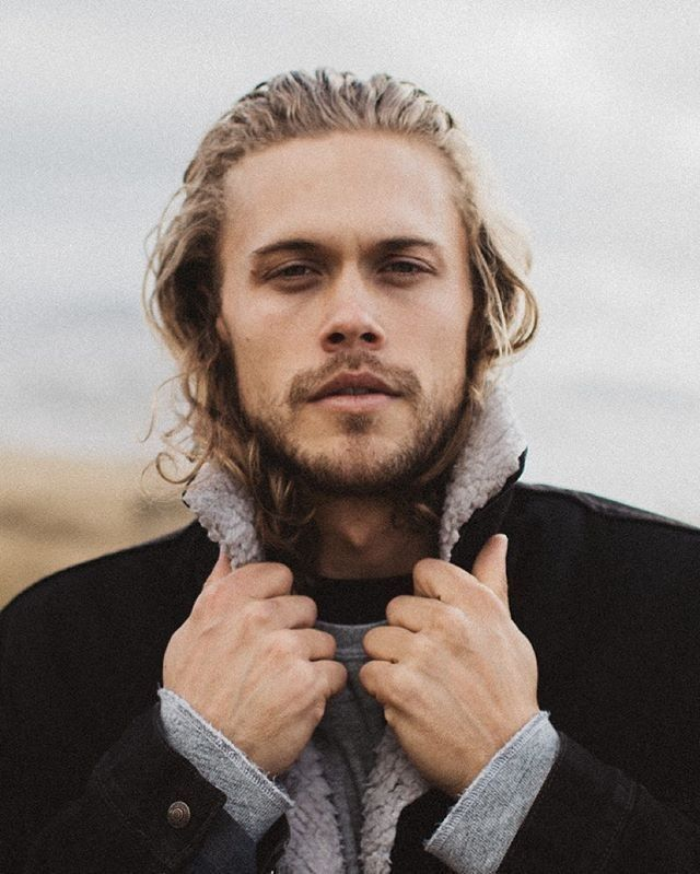 Blonde male hair model How to