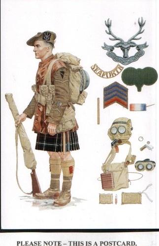 World War I - Postcard Seaforth Highlanders