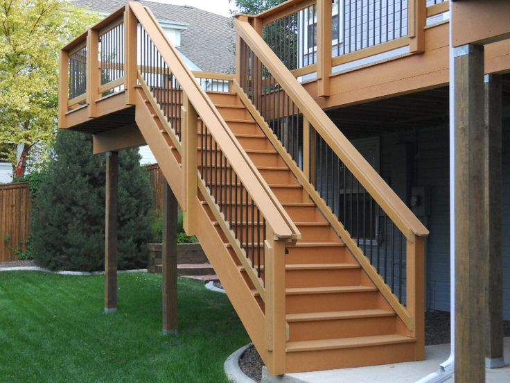 Deck ideas for the home pinterest the o 39 jays stairs for Garden decking banister