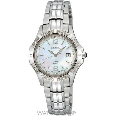Ladies Seiko Coutura Diamond Watch SXDE19P1