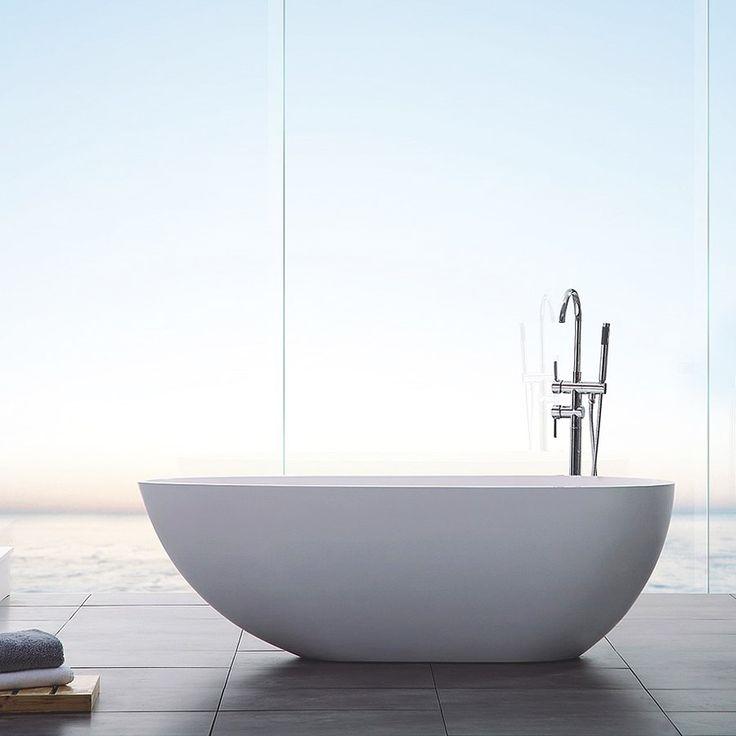 Bathlife Fristående Badkar Ideal Design Gjutmarmor vit