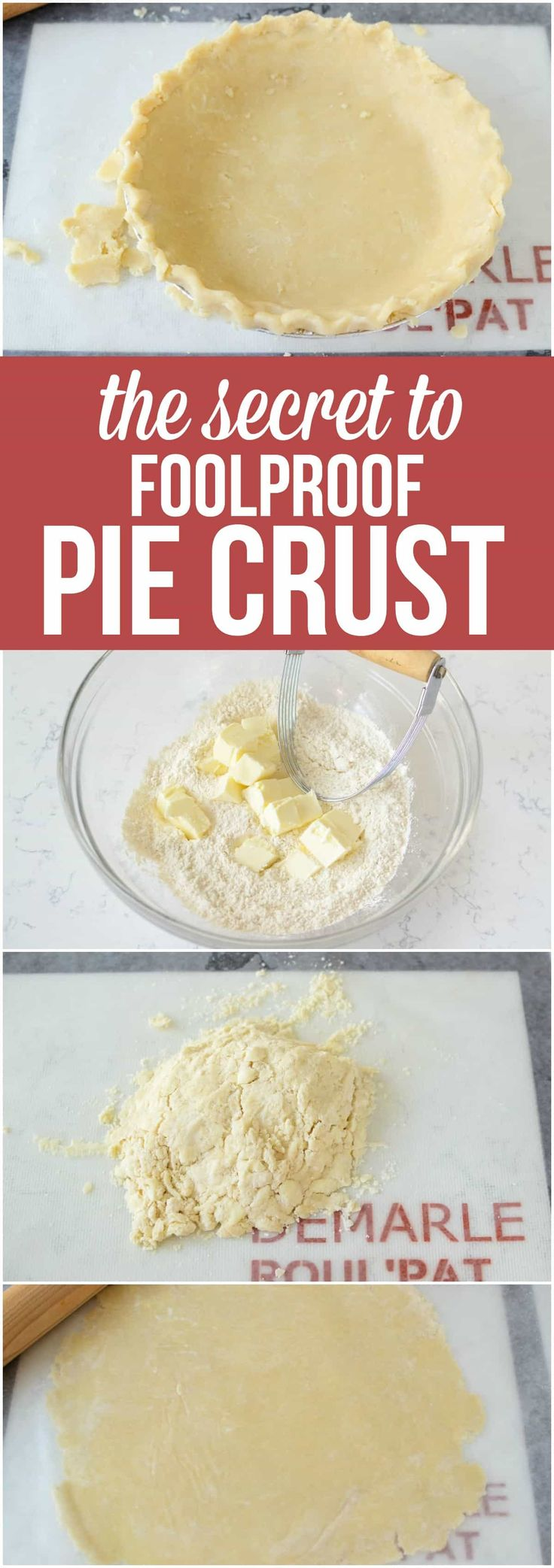 The secret to making the perfect foolproof Pie Crust! Learn what ingredients to use, which method works best, and get recipes for the best pie crusts ever! via @crazyforcrust