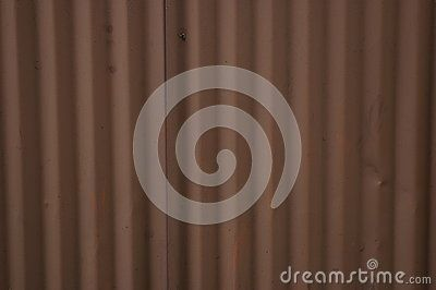 Close up brown metal sheets