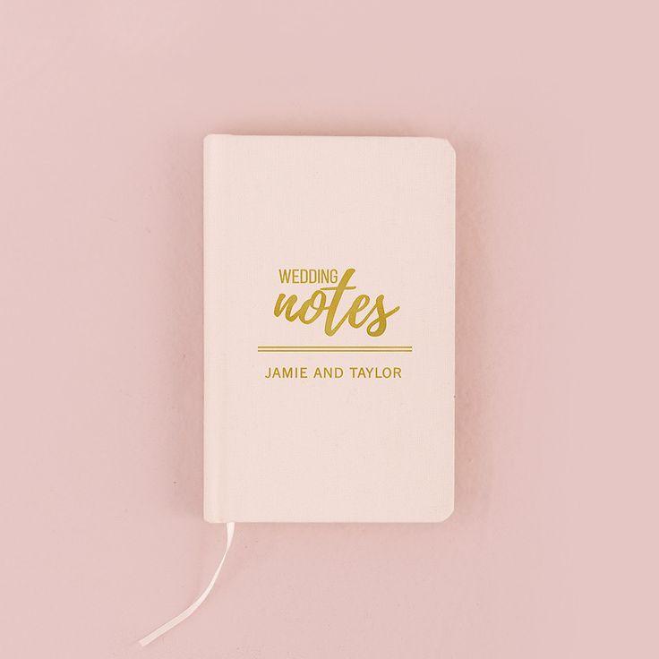 Ivory Linen Pocket Journal - Wedding Notes Emboss