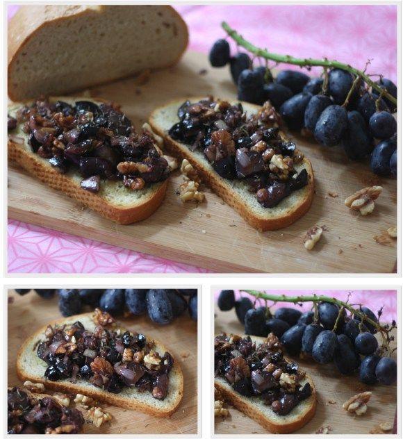 Italienische crostini mit trauben n ssen ein kochbuch auf reisen food pinterest for Italienisches kochbuch