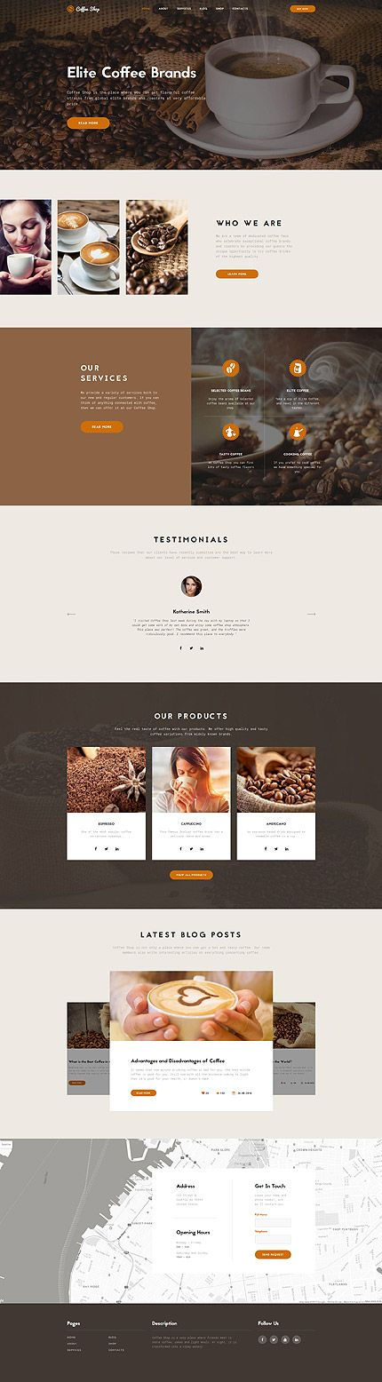 Template 62130 - Coffee Store  Responsive Website Template