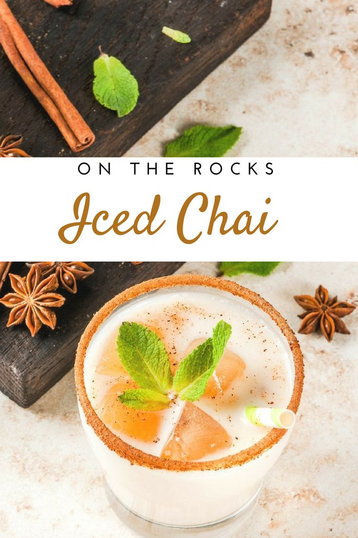 We cooled down a traditional warming recipe, so you can enjoy chai all year long! This is the perfect drink to make at home and take with you to avoid buying a sugary, refined beverage from a coffee shop. #icedchai #chai #summerdrinks #delicious #summer #recipes #summer #pranin #praninorganic