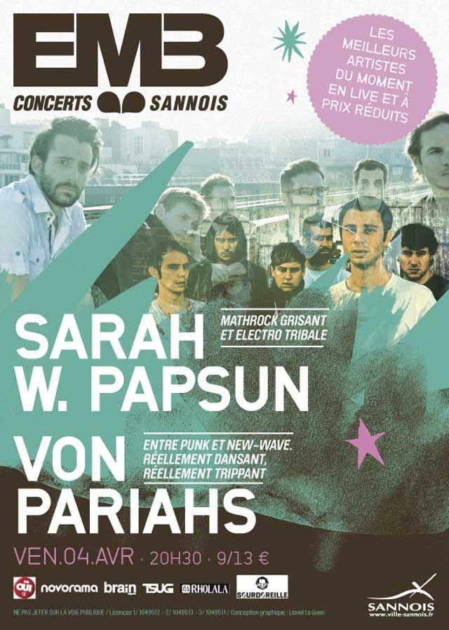 Von Pariahs, flambeau rock de notre belle France qui dynamitent toutes les salles de concert dans lesquelles ils jouent. Punk, intense et avec de vrais morceaux de bravoure dedans, les Von Pariahs sont prêts à enflammer l'EMB Sannois...