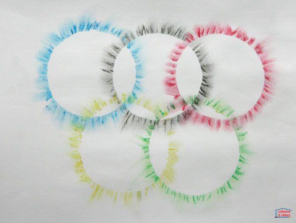 Les Jeux olympiques approchent à grands pas! Pour se préparer à cet événement, j'ai proposé aux enfants de faire un peu d'art sur ce thème et nous avons dessiné ces anneaux olympiques avec des pastels. C'est super simple et cela rend super bien. C'est une technique toute simple : on met du pastel et on étale la couleur au doigt pour créer une sorte d'halo. Cela donne des drapeaux olympiques que les enfants pourront afficher un peu partout dans la maison ! Qu'est ce que le drapeau des...