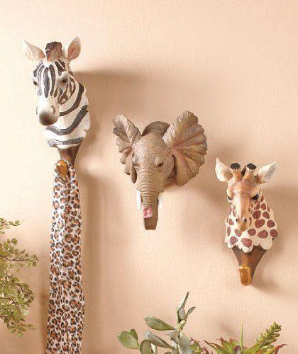 3 Piece Safari Wild African Zebra Elephant Giraffe Animal